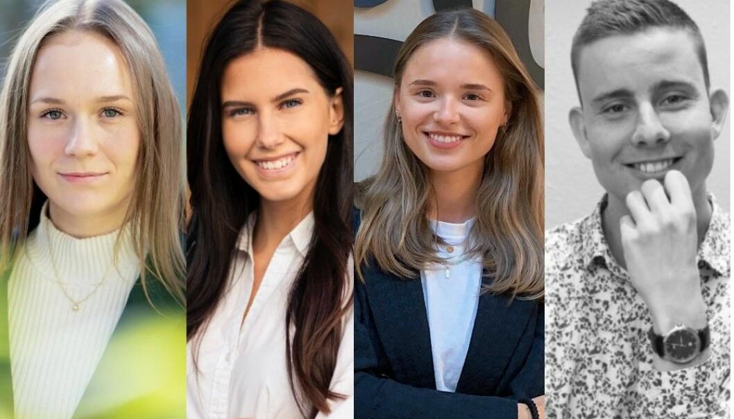 Pernille Celine Engdahl i Kruse Larsen, Sara Wedul Gundersen i Corporate Communications, Helene Kvernaas i Spoon Agency og Bjørnar Sjøvik i Släger