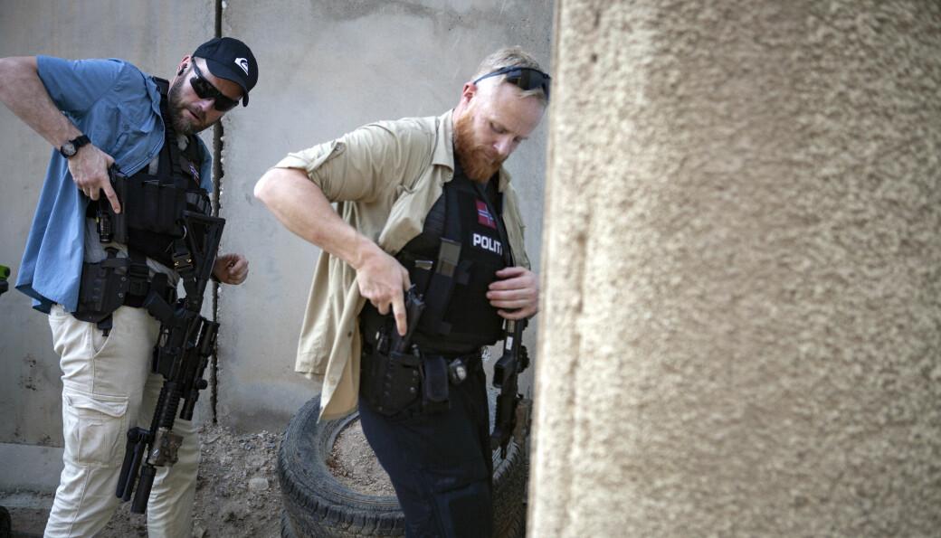 Tungt bevæpnet personell fra PST på oppdrag i Irak