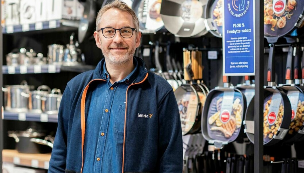 Administerende direktør Espen Karlsen i Jernia kommer med forslag til årets julegaver..