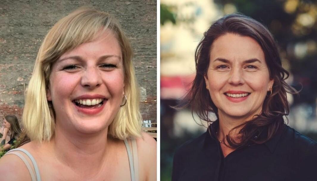 Kaja Storrøsen (t.v) reagerer på Tuns stillingsutlysning. Byråleder Marianne Vangsøy svarer på kritikken.