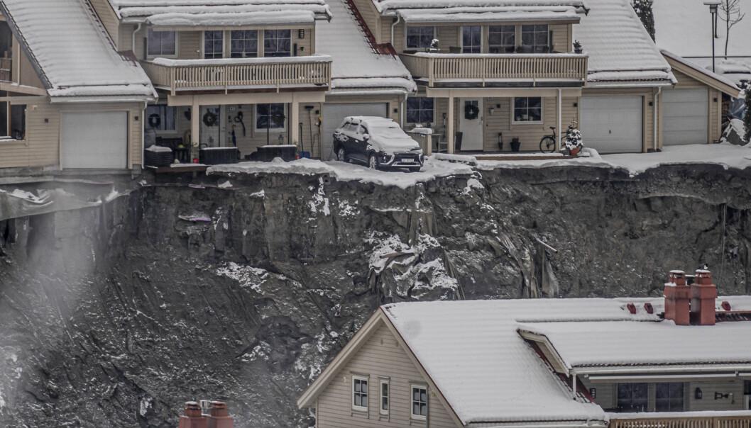 Gjerdrum 20210107.  Flere boliger er tatt av et stort jord- og leirskred i Ask i Gjerdrum onsdag 30. desember. Sju personer er funnet omkommet og tre er fortsatt savnet. Foto: Heiko Junge / NTB