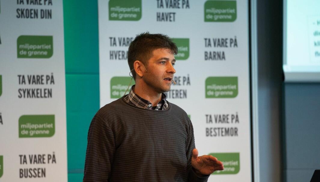 Kommunikasjonssjef Nils Mørk i Miljøpartiet De Grønne.