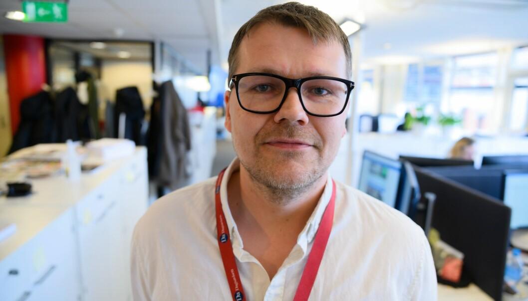Markedssjef Marius Floberghagen i Dagsavisen.