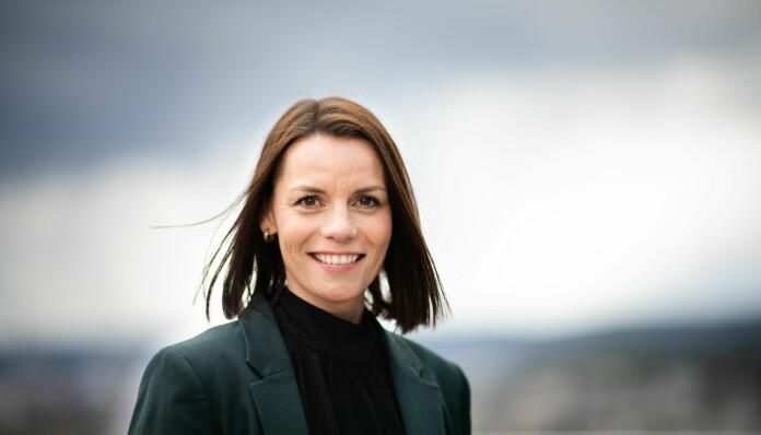 Kommunikasjonsdirektør Vibeke Hansen i DNB, som kan skilte med å ha kapret tredjeplassen på årets liste.