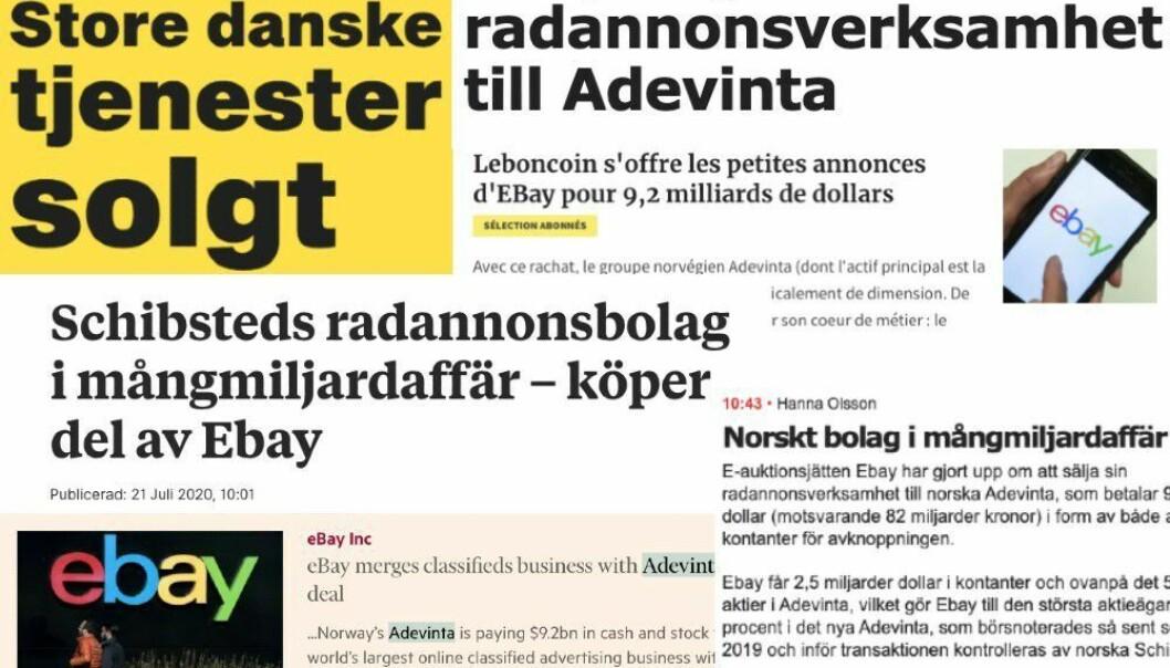M24: Dette skriver utenlandske medier om Adevinta-oppkjøpet: – Oppsiktsvekkende milliardhandel