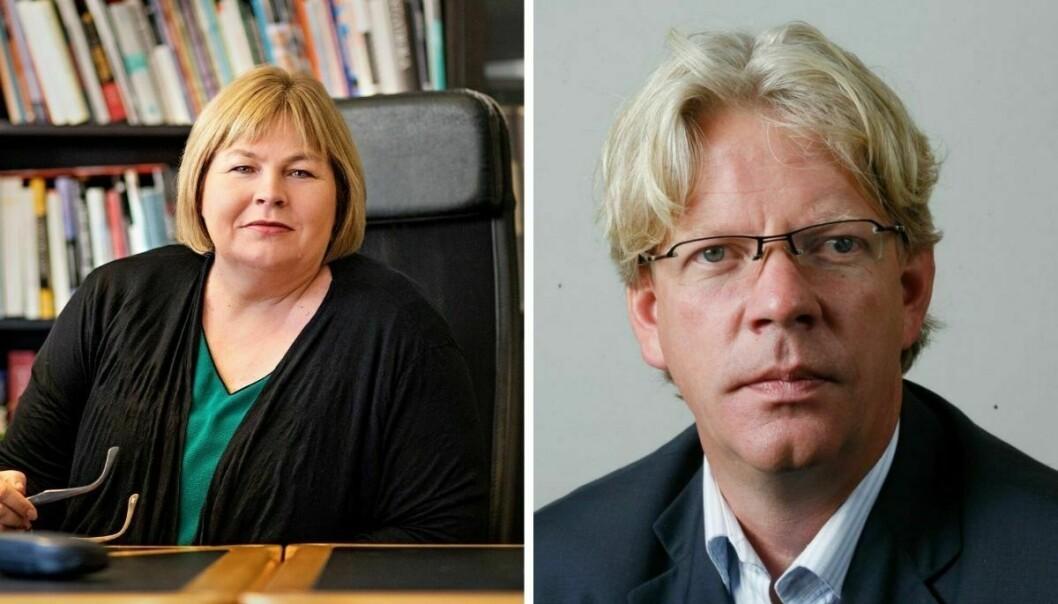 Elin Floberghagen (til venstre) og Tron Strand er helt uenige med de som vil ha vekk offentlige søkerlister.