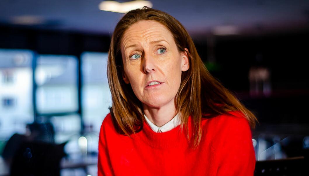 Vibeke Johannesen, daglig leder i Sportsklubben Brann. Hun mener klubben har lagt en bra kommunikasjonsstrategi rundt planene om å legge kunstgress inne på stadionanlegget.