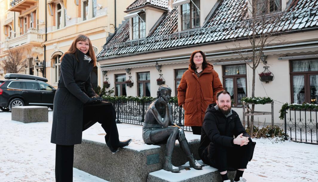 (f.v) Daglig elder Kjerstin Tollefsrød i LudensGruppen. Her er hun avbildet sammen med Line Fauchald og Stian Bakkane.