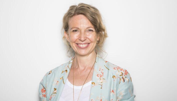 Christina Dorthellinger Nygaard er redaktør for visuell kommunikasjon i NTB. Hun sier de kommer til å følge opp de av kundene deres som har brukt Sanders-bildet for å lage meme med.