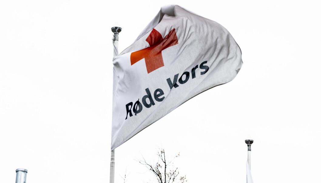 OSLO, NORGE 20200408.  Logo til Røde Kors i lokalene på Grønland Foto: Berit Roald / NTB