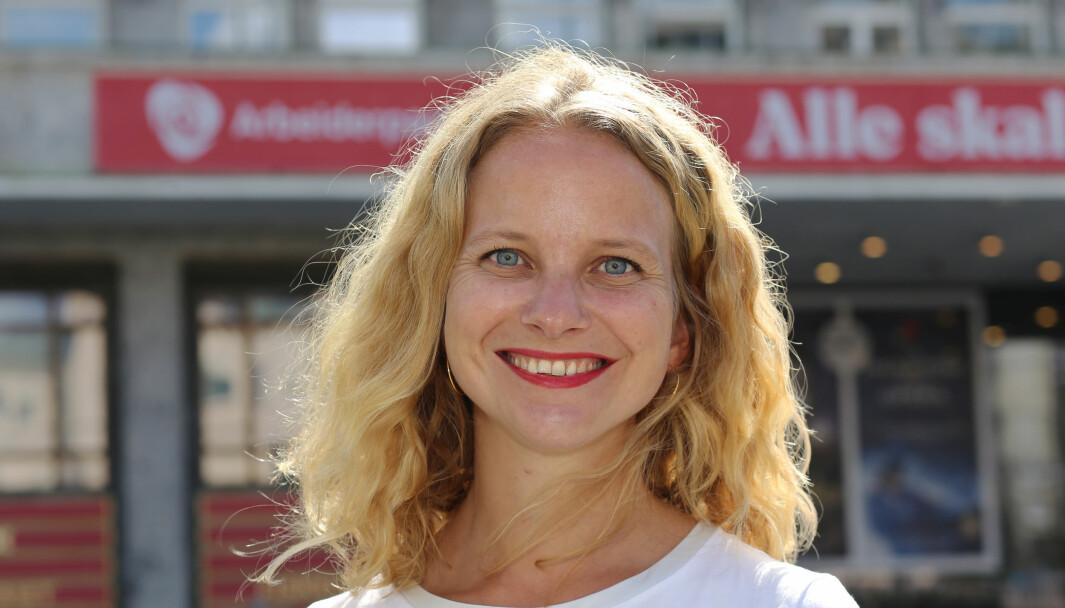 Kommunikasjonssjef Ingrid Langerud forteller at de bruker mye tid på internkommunikasjon og skolering i Arbeiderpartiet.
