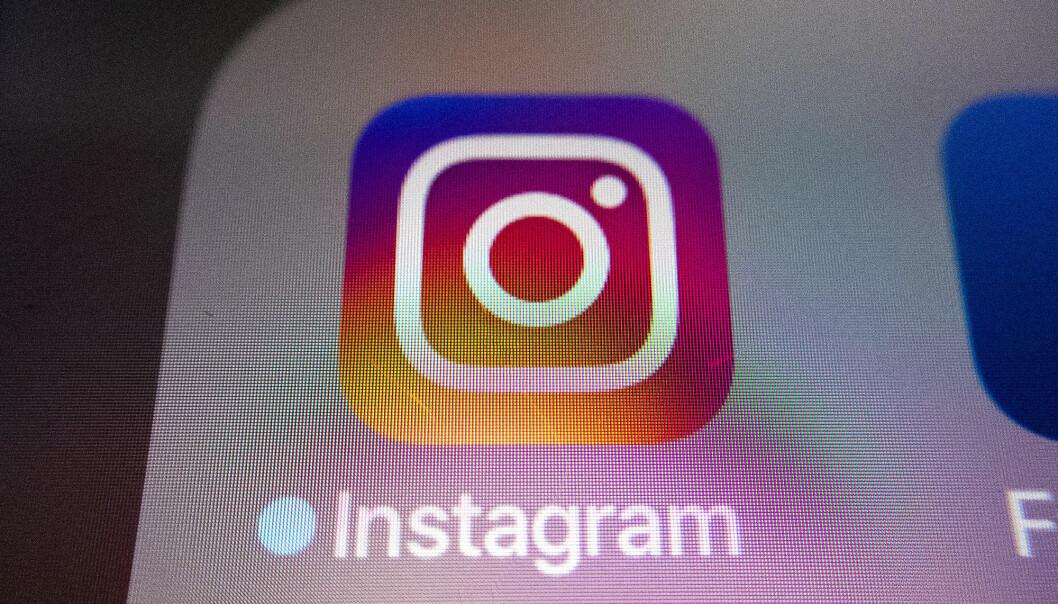 Oslo  20190225. Illustrasjonsbilde Instagram appen på mobil. Foto: Gorm Kallestad / NTB