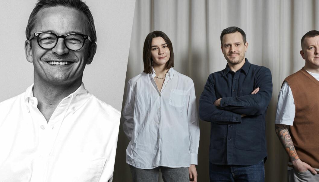 NoA-grunnlegger Thomas Høgebøl, samt Oakwoods Izabelle Östgren, Sebastian Broms og Vincent Boiardt