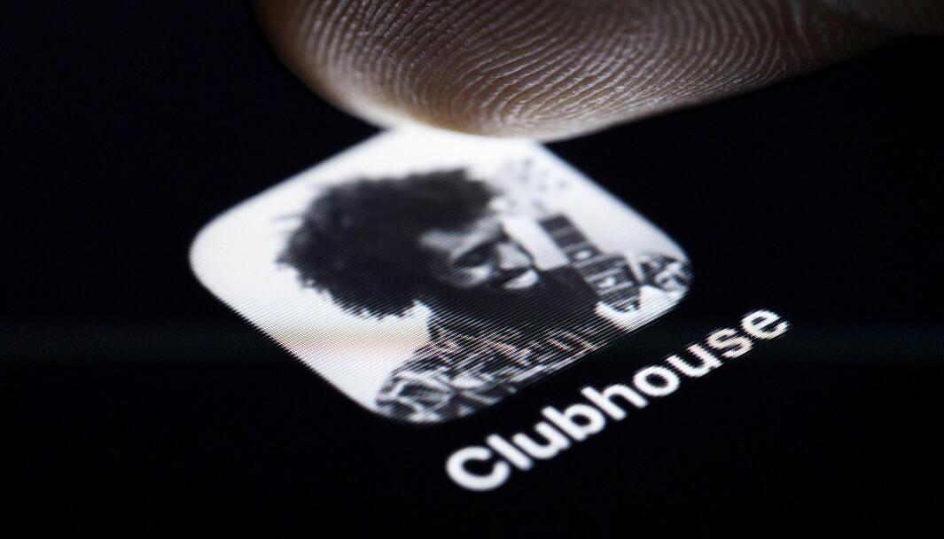 Illustrasjonsbilde: Appen Clubhouse.. (Credit Image: © Future-Image via ZUMA Press)