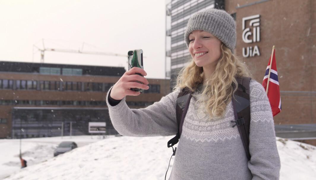 UiAs video viser frem både universitetet og Norge.