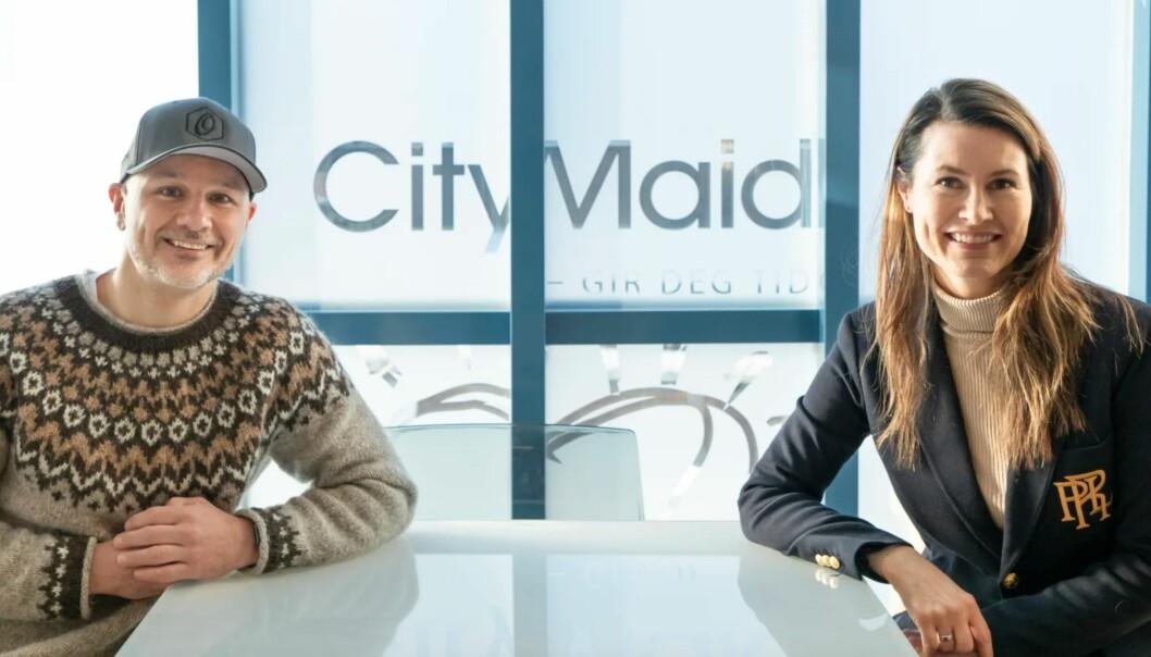 Jens Ellingsson, partner og rådgiver i Optus Digitalbyrå sammen med Vibeke Scavenius, leder for markedsføring og kommunikasjon i CityMaid.