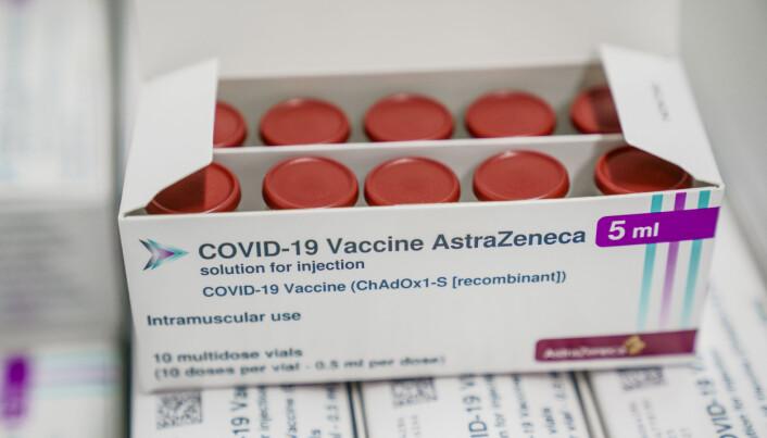 De første dosene av AstraZeneca-vaksinen kom til et lager til Folkehelseinstituttet (FHI) tidlig i februar.