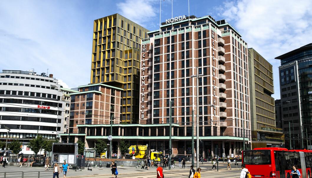 Oslo 20200705.  Bilde av hotellet Clarion The Hub i juli 2020. Foto: Annika Byrde / NTB