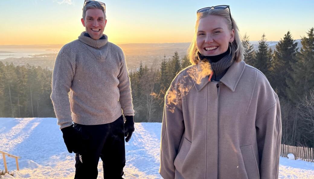 Mari Anvik Berg (t.h.) har startet hos Digital Opptur og daglig leder Erik Storm (t.v.) er strålende fornøyd med å få Mari med på laget.