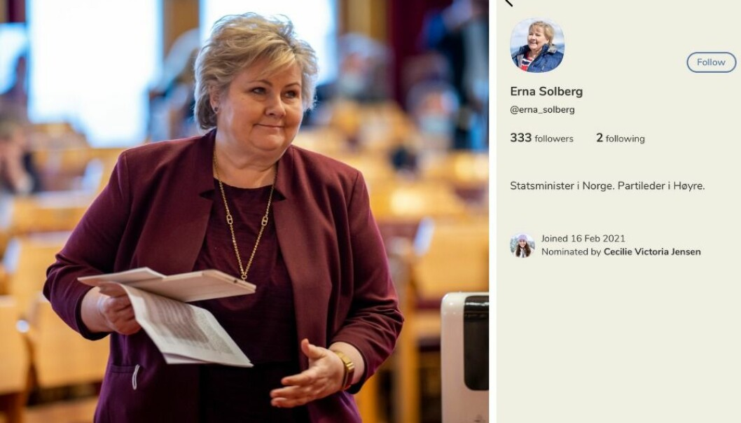 Statsministeren har hevet seg på Clubhouse-bølgen og har opprettet egen konto på det nye sosiale mediet