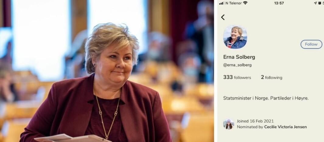 Statsministeren har egen SoMe-telefon – Nå er hun på Clubhouse