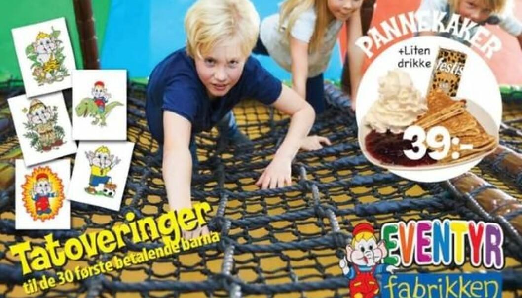 MFU mener at en bruk av godteposer som lokkemiddel som er benyttet i disse annonsene vil appellere særlig til barn