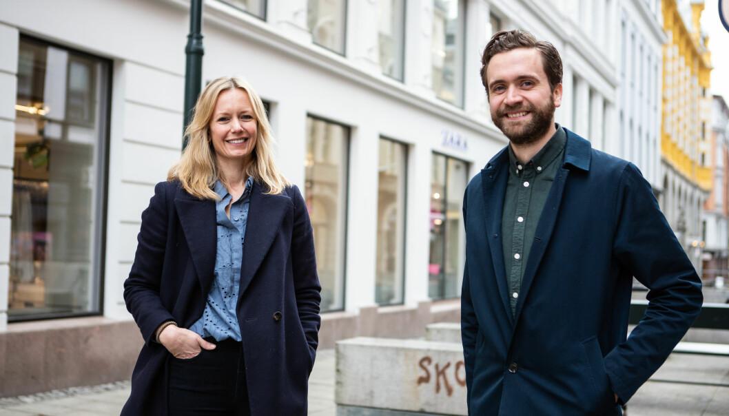 Leder for TRY Innhold, Lene Vintervoll, sammen med nyansatt innholdsredaktør Jonas Sverrisson Rasch.