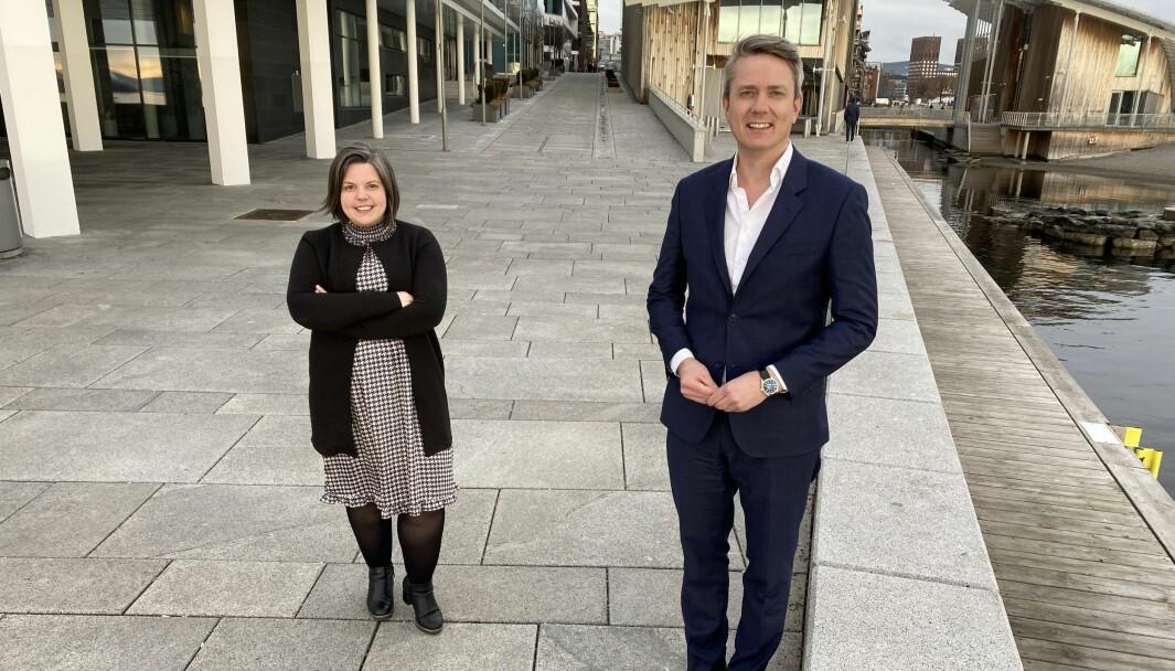 Kaia Tetlie og Håkon Rønning rykker begge opp og blir managing partnere i Corporate Communications.