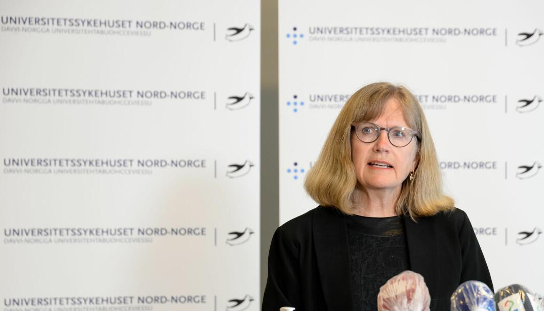 Administrerende direktør i Universitetssykehuset i Nord-Norge, Anita Schumacher har holdt flere pressekonferanser og formidlet viktig informasjon ut til et helt samfunn. Kunnskapen sykehuset sitter igjen med etter ett år under pandemien vil de ha god nytte av i tiden fremover.