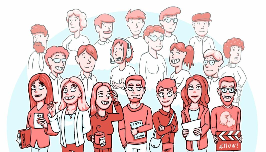 I byrået Zoaring er de åtte ansatte. Alt fra videoprodusenter, reklamefolk, journalister, tekstforfattere og forretningsutviklere.