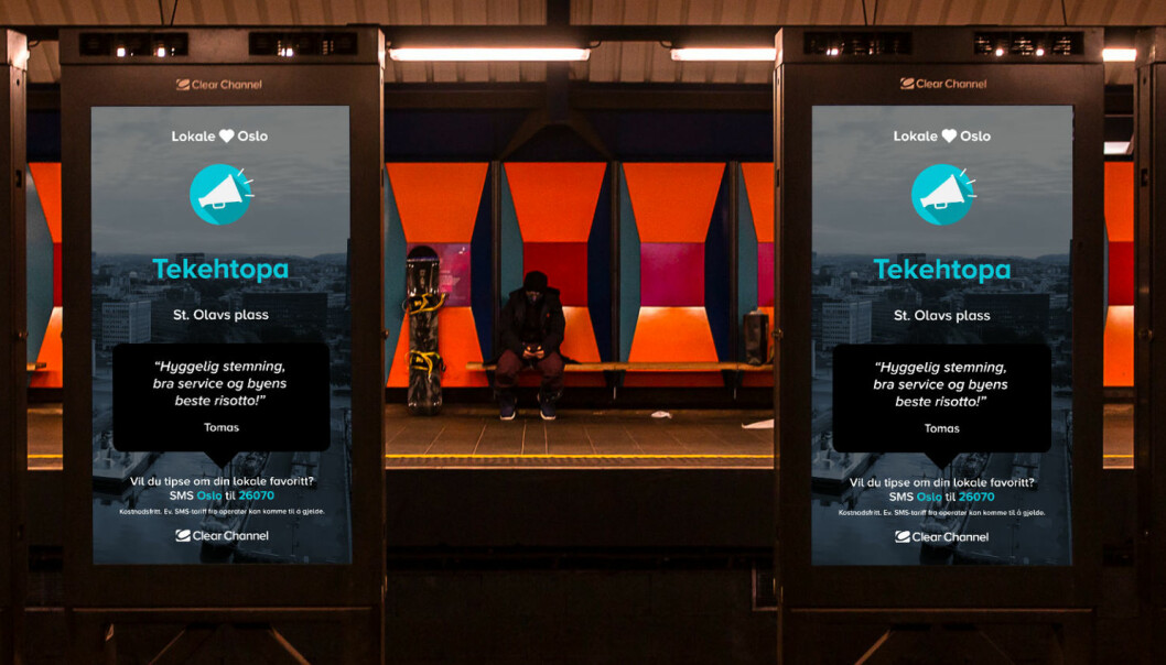 Gir bort gratis reklame: Via en SMS kan Osloborgerne tipse om og støtte lokale bedrifter
