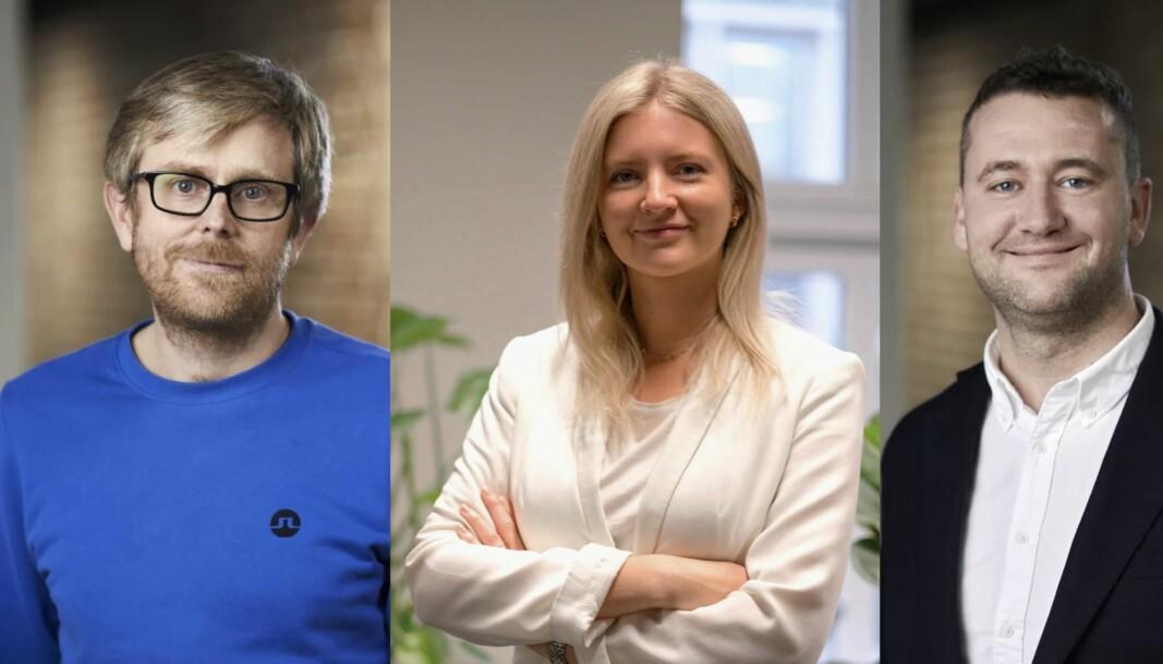 Thomas Straw og Bjarte Humborstad har hentet Rikke Etholm-Idsøe til Caulis.