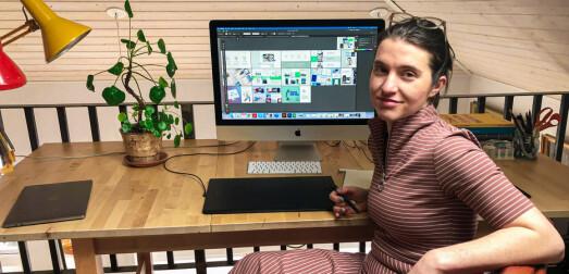 Da Kasia Dynowska(34) flyttet fra Polen til Norge tok det to år før hun turte å jobbe som grafisk designer på fulltid