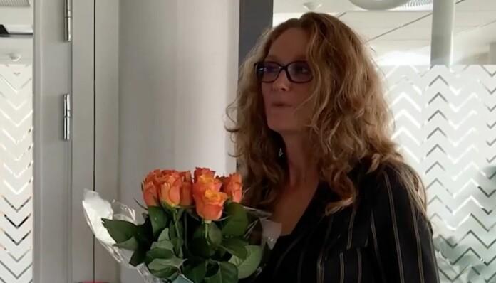 Senior kommunikasjonsrådgiver Ragnhild Bergsmyr i Arbeidstilsynet takker for prisen.