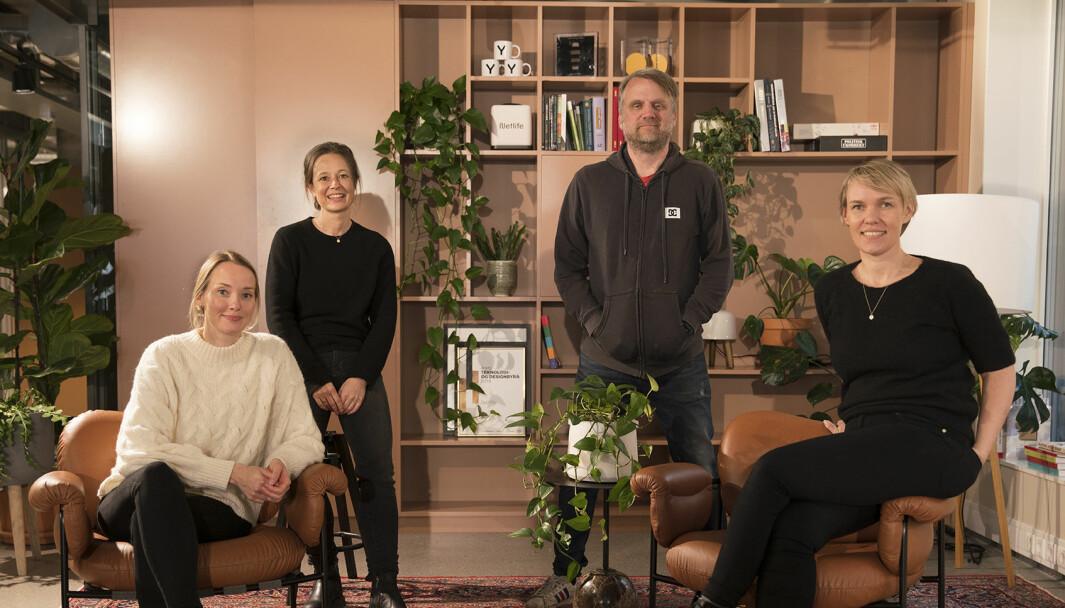 Her er teamet i Netlife som jobber med Mattilsynet. Fra venstre: Ida Marrable, Irmelin Bergh, Ove Dalen og Jorunn Aarvik .