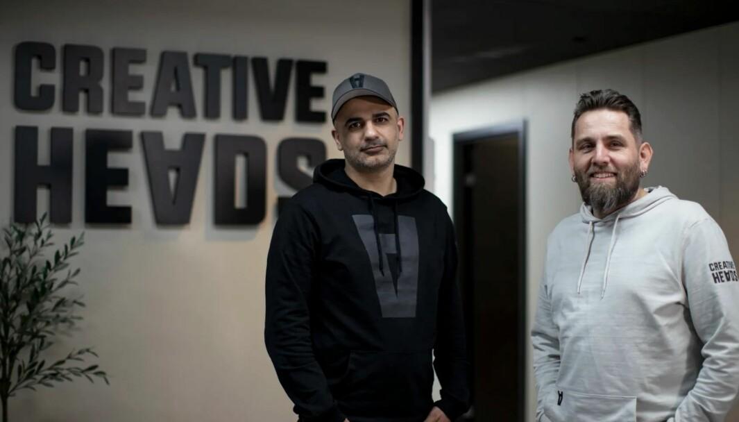 Reklamebyrået Bajasen og digitalbyrået Optus slår seg sammen. På bildet ser du Abtin Rahmanian og Franck Bjaanes som nå jobber sammen i Creative heads.