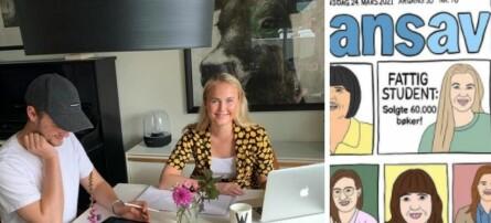 Designeren synes det var for få kvinner på forsiden av Finansavisen: Lagde sin egen drømmeforside