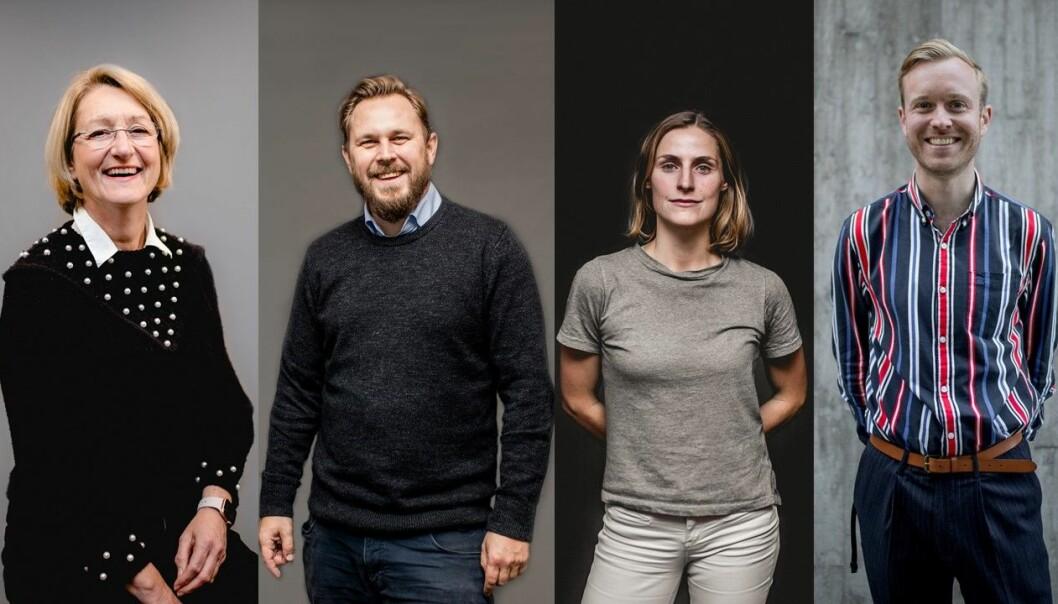 Teamet bak kampanjen var COWIs kommunikasjonsavdeling f.v. May Kristin Haugen, Ole Emil Johnsen, Ragnhild Heggem Fagerheim, Kristoffer Jakobsen, i samarbeid med Schibsted partnerstudio.
