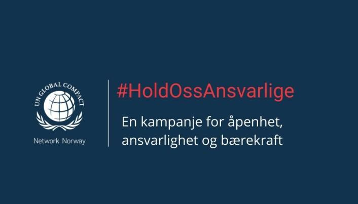 Gjennom «Hold Oss Ansvarlige» -kampanjen ønsker Global Compact å fremme medlemmenes bærekraftige arbeid.