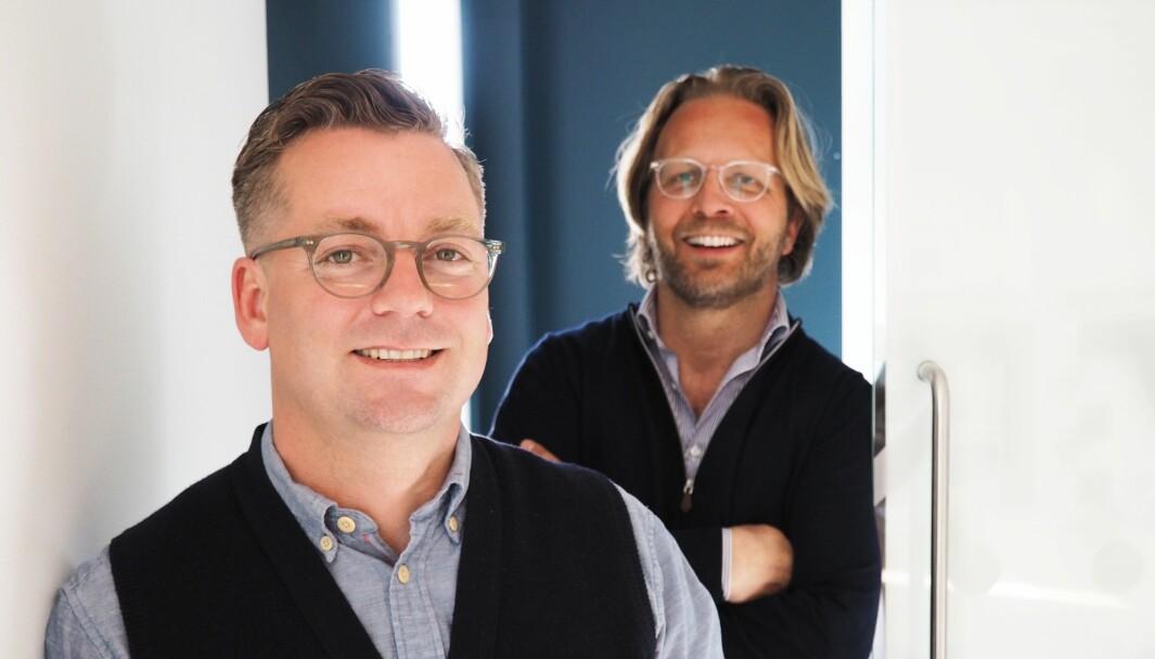 Eivind Németh er nylig ansatt i Viva Media. Her er han sammen med Country Manager Thomas Lillebror Finne.