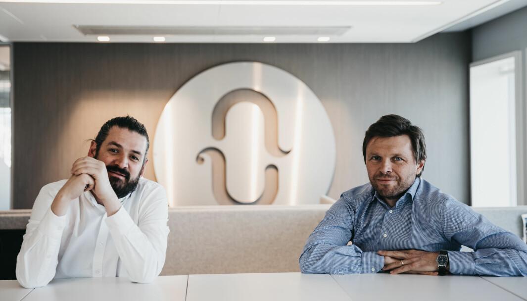 Leder for innhold, kreativitet og annonsering, Kyrre Edquist-Hansen sammen med Nucleus-sjef Axel Revheim.