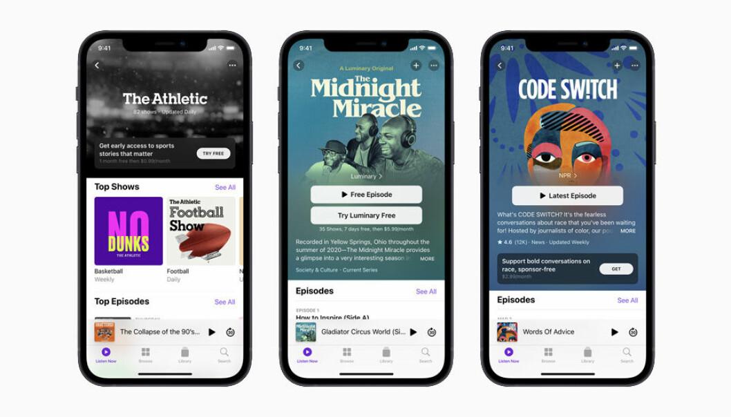 Apple lar deg tjene penger på podkast