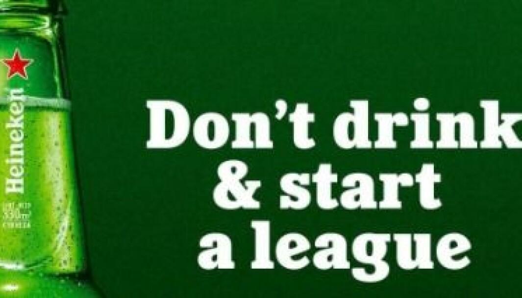 Heineken med hysterisk morsomt svar til de siste dagers fotballfarse.