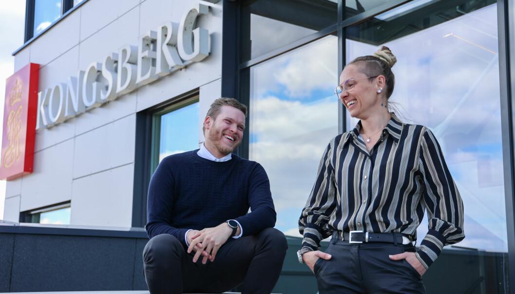Njål Frilseth og Camilla Brevik Hågensen har begge begynt i kommunikasjonsavdelingen til Kongsberg Defence and Aerospace.
