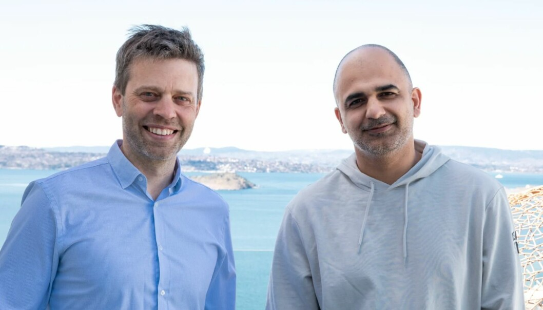 Tor Magnus Kolflaath (t.v) kjøper seg inn på eiersiden i Creative Heads. Her sammen med daglig leder Abtin Rahmanian i byrået.