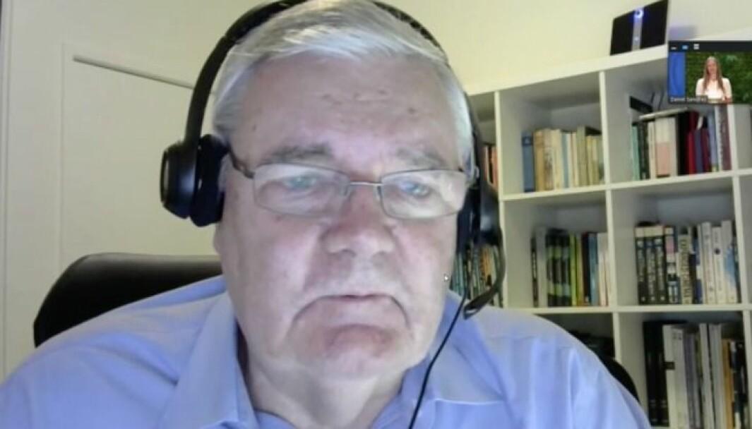 Jim Macnamara live fra Sydney under årets digitale kommunikasjonsdager.