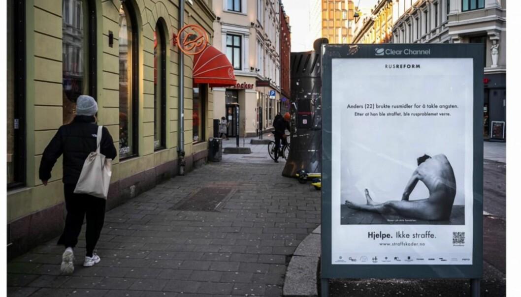 Postere som dette ble satt ut i syv norske byer.
