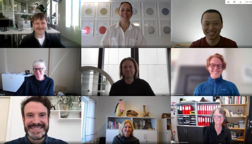 Bilde fra topp venstre: Halvor Nordrum, Marie Steen, Truong Vu Pham, Brit Lisa Skjelkvåle, Svein Haakon Lia, Christoffer Nøkleby, Nicolo Sattin, Karenina Kriszat, Hanne Lise Skjeklesæther.