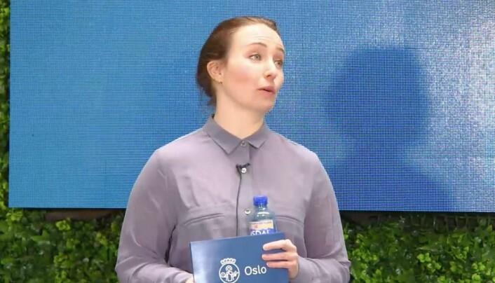 Kathrine Sæverud Hauge, beredskapsrådgiver, Beredskapsetaten, Oslo kommune under Kommunikasjonsdagene torsdag.
