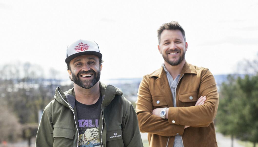 Produksjonsselskapet FUS! har ansatt regissøren Cash Khazai. Til høyre står daglig leder i FUS!, Glenn Huth Mæland.